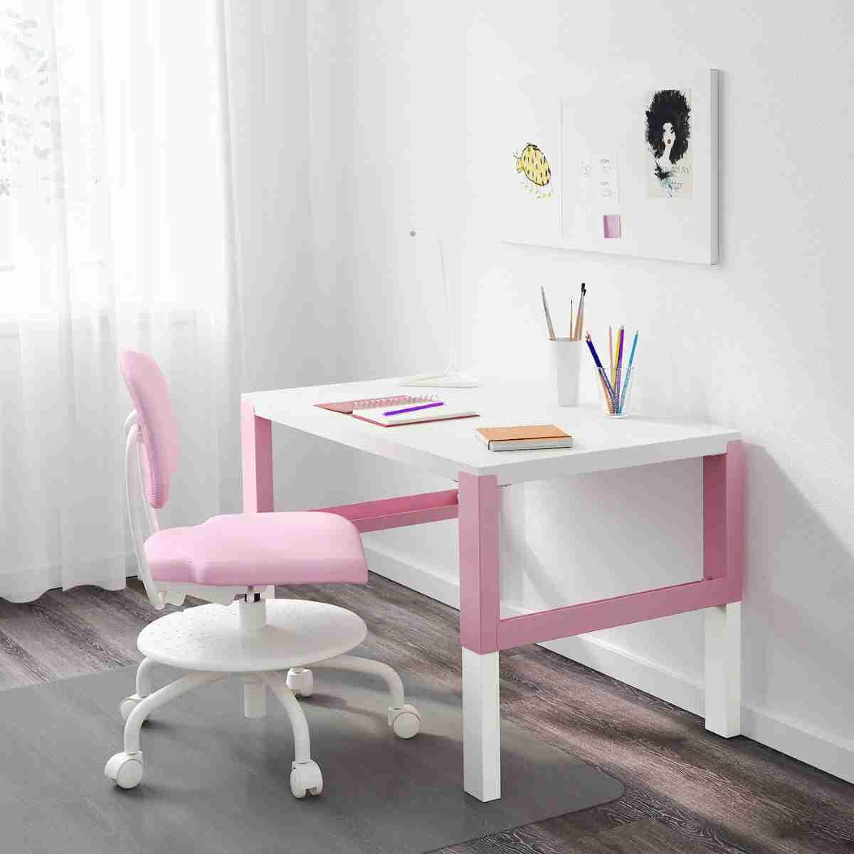 escritorio de ikea bicolor