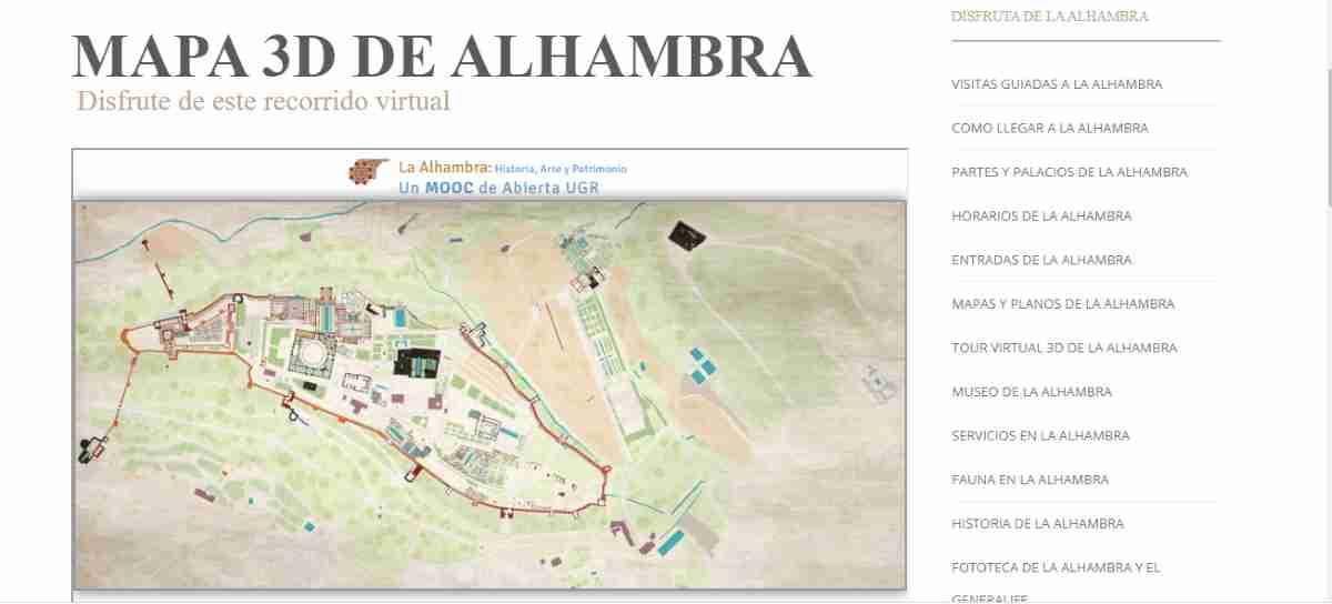 viaje virtual a la alhambra