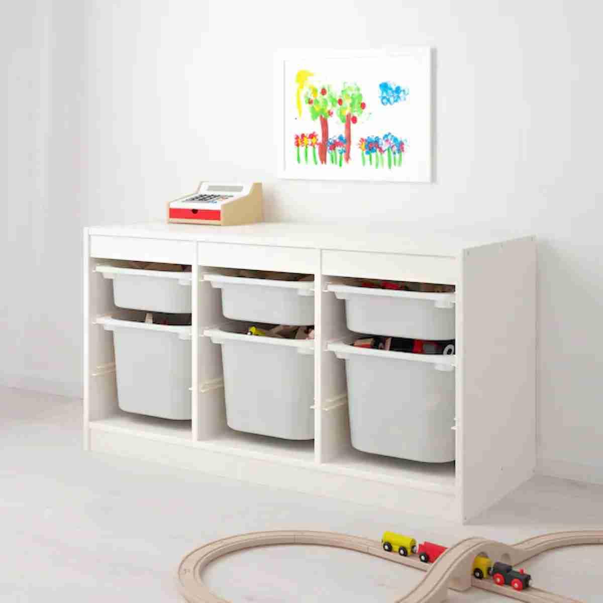 almacenaje y decoracion con organizador de juguetes infantil