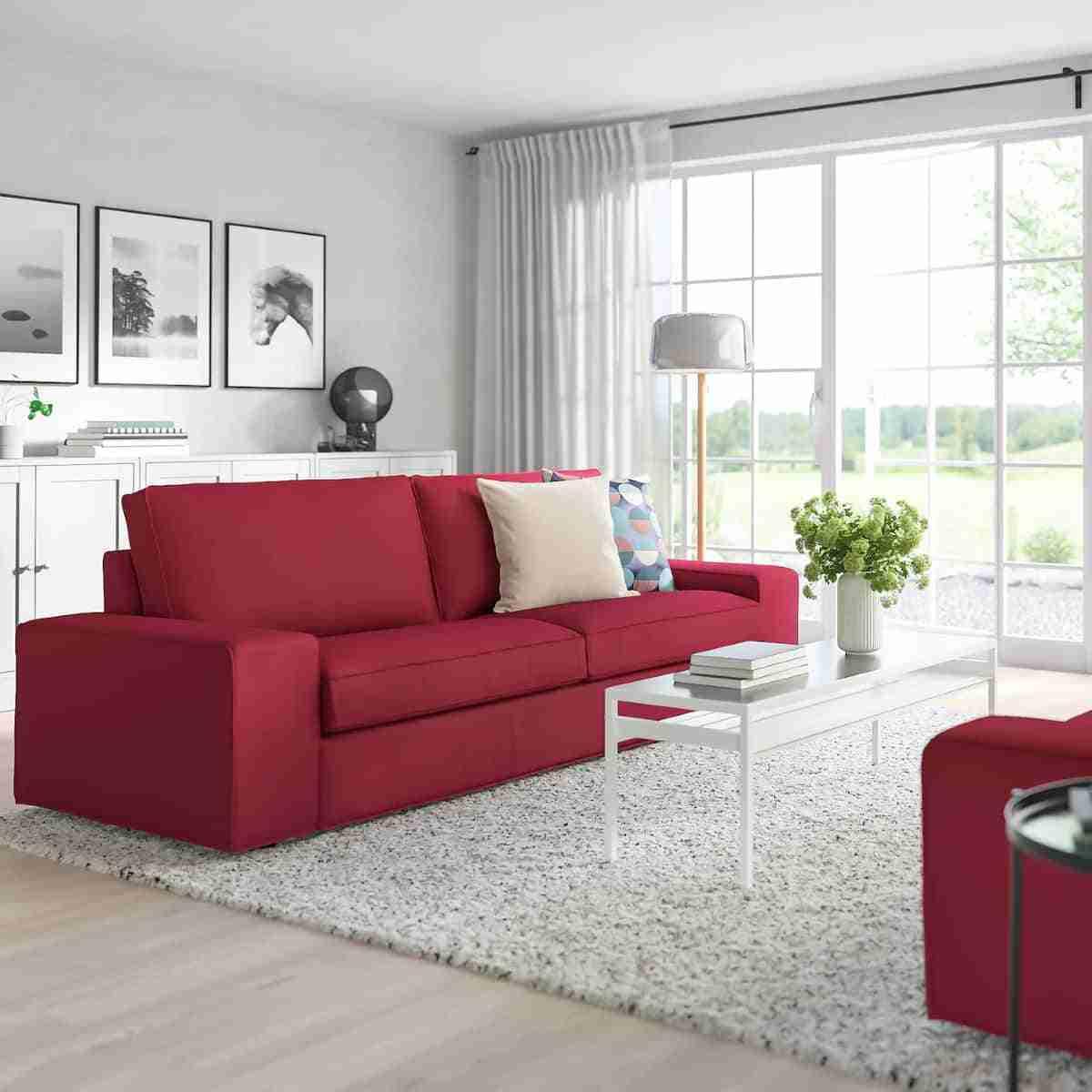sofa de tres plazas kivik
