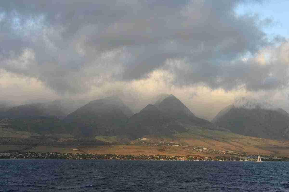 vista de la isla de maui