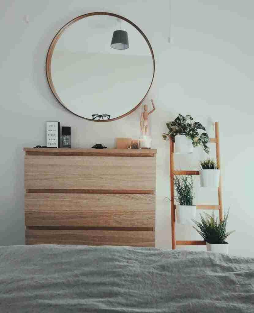 decoracion con espejos redondos