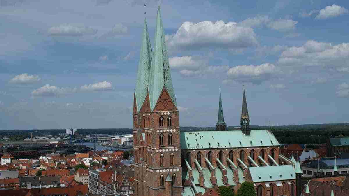 iglesia gotica de santa maria en lubeck