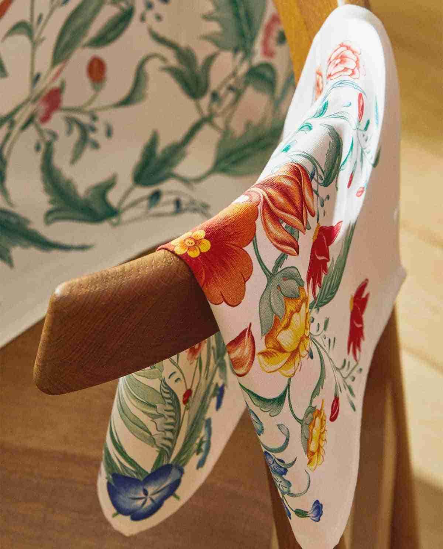 servilletas zara home estampado floral