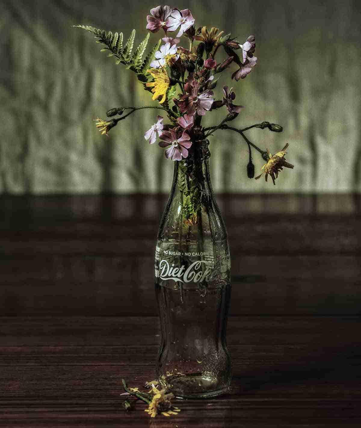 botella reciclada de refresco