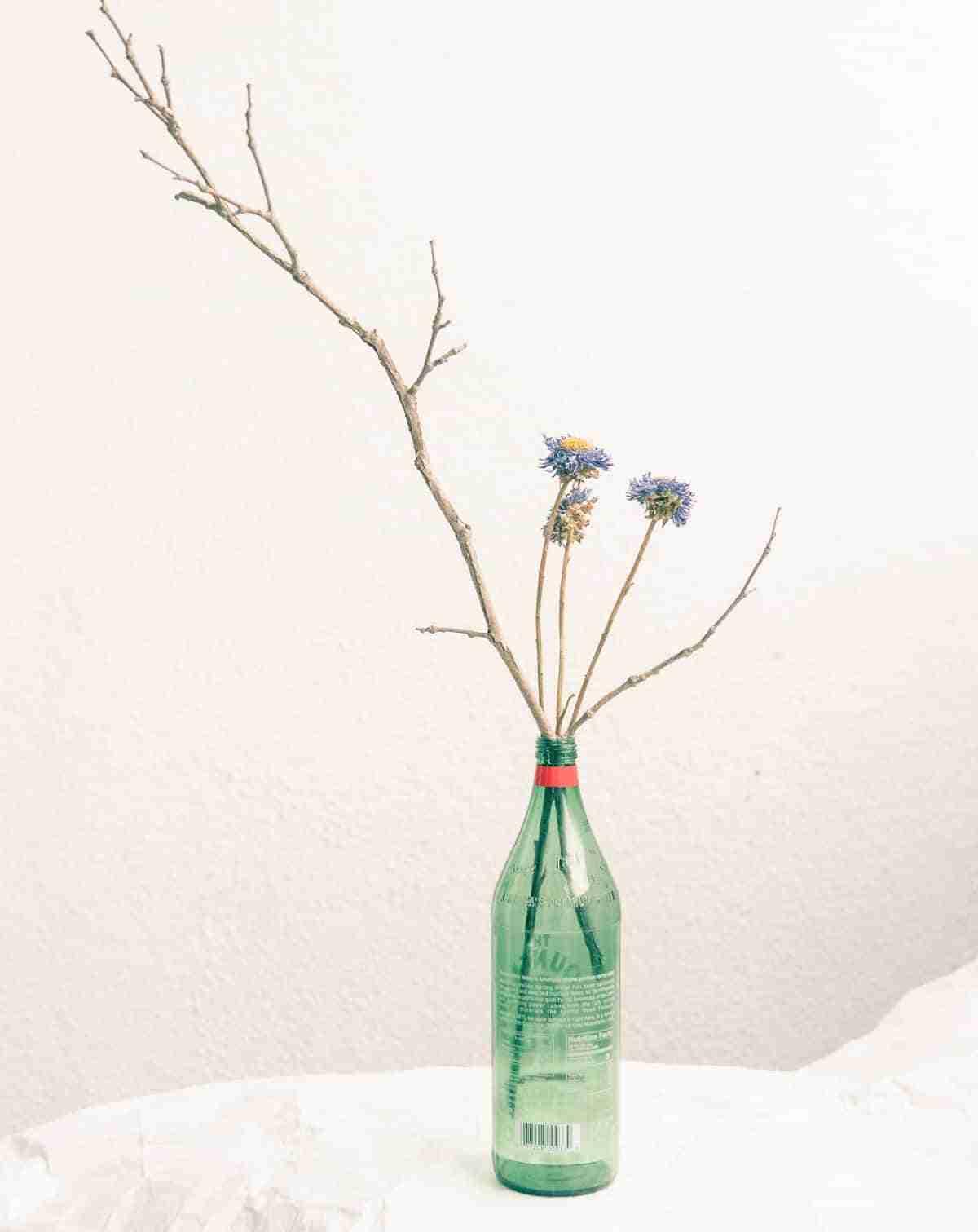 botellas recicladas para flores