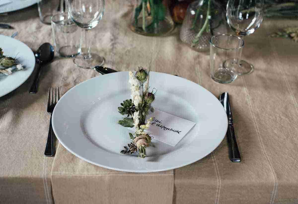 decoracion minimalista platos bodas