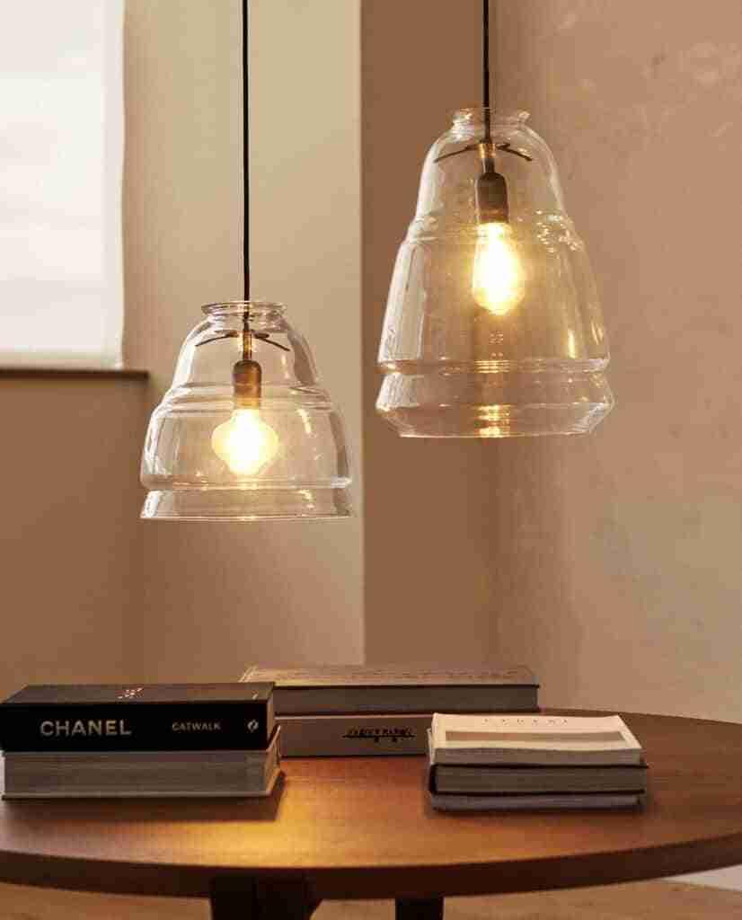 lamparas de vidrio zara home
