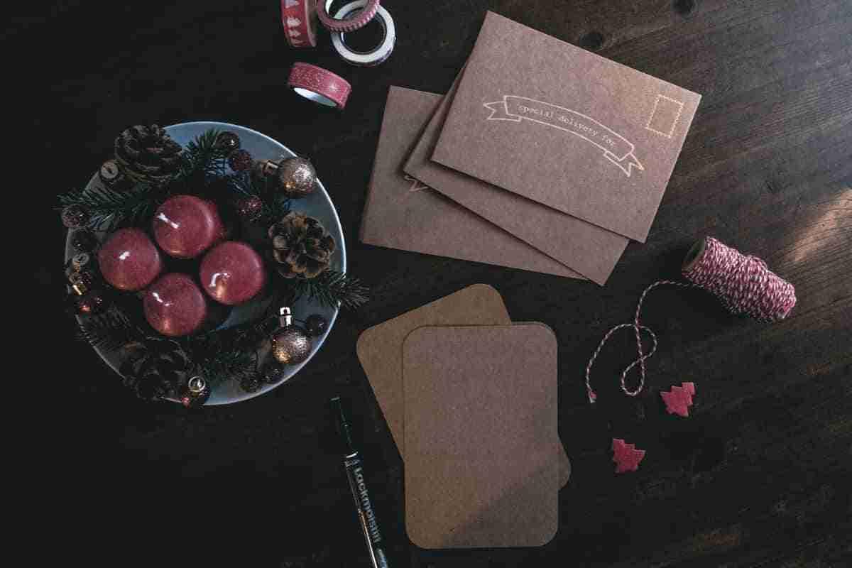 centro de mesa con pinones