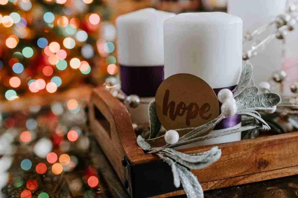 centros de mesa navidenos con velas