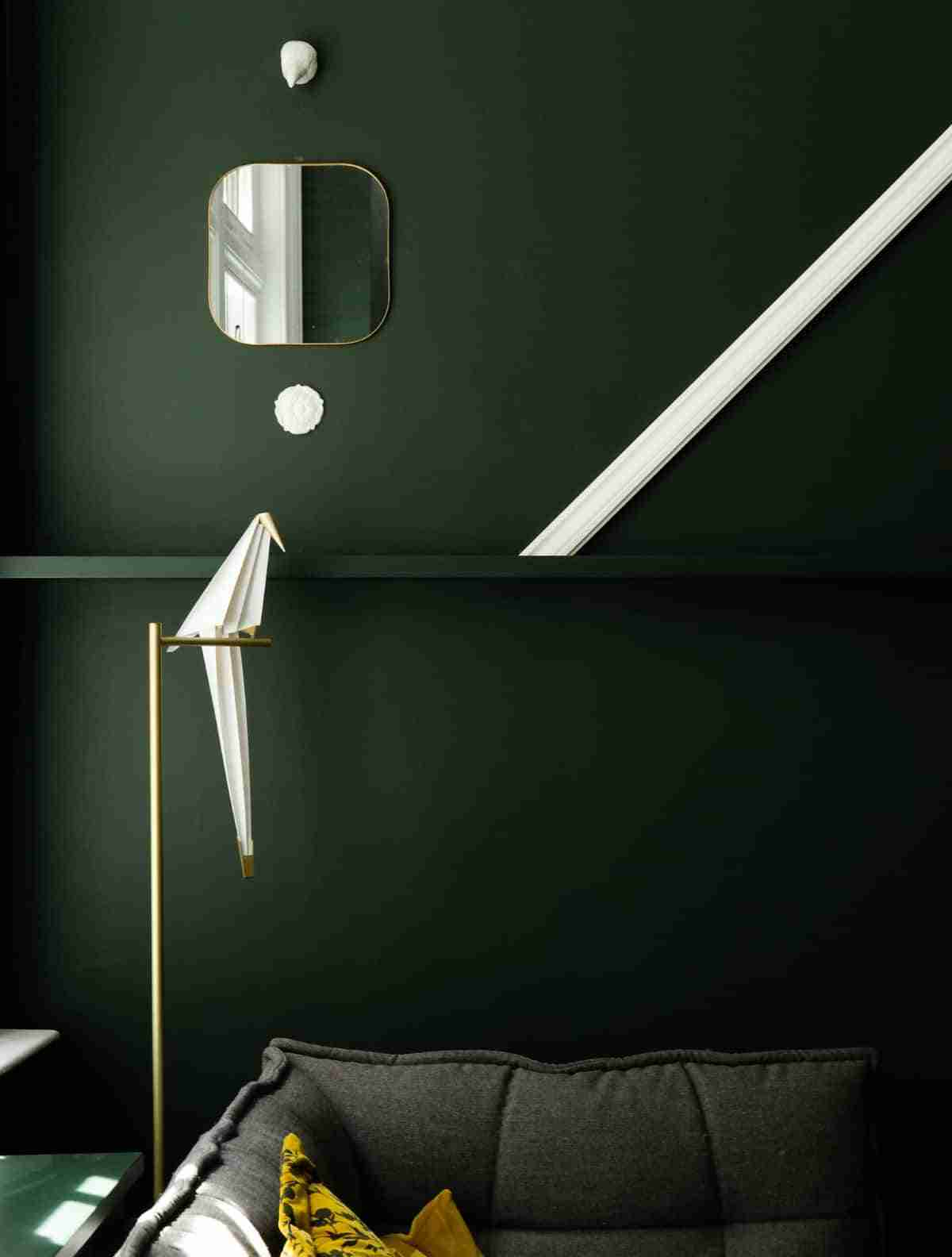 paredes en color verde