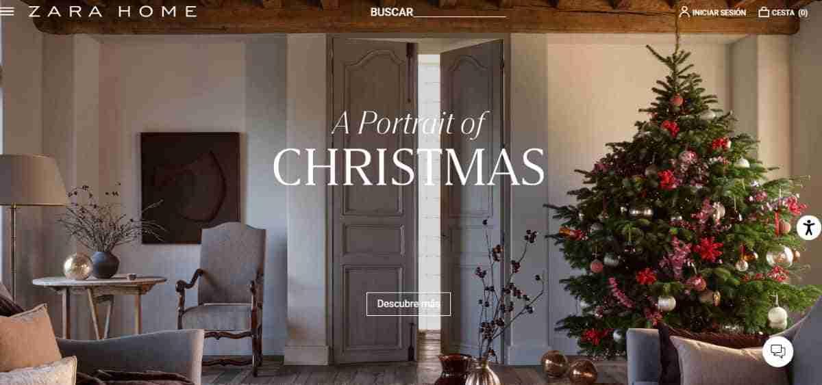 retrato de navidad zara home