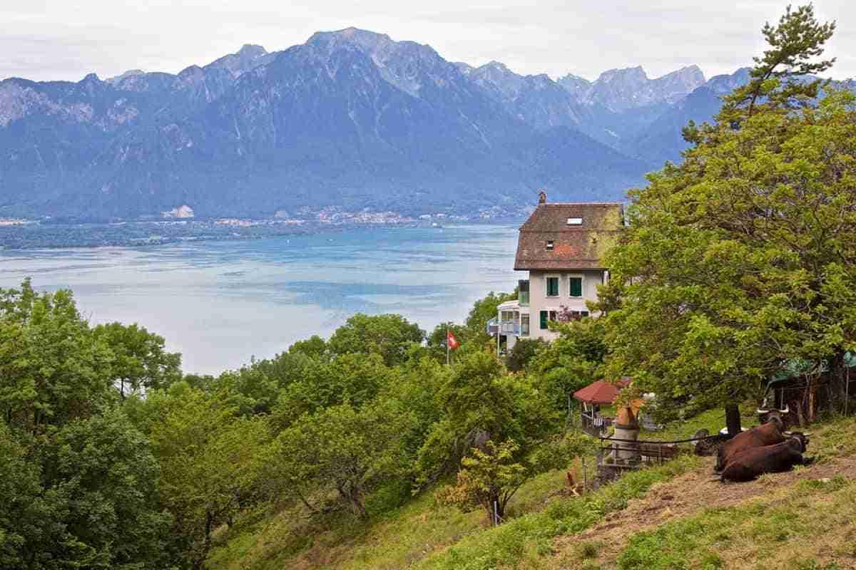 vista de montreux suiza