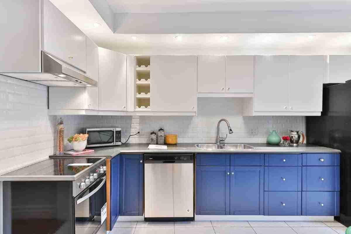 cocinas color azul para el 2021