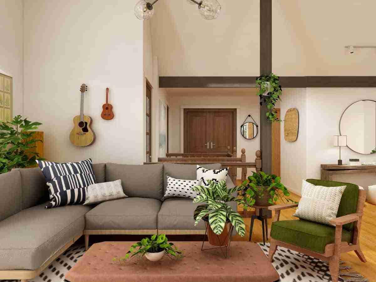 decorar salones con jardines interiores