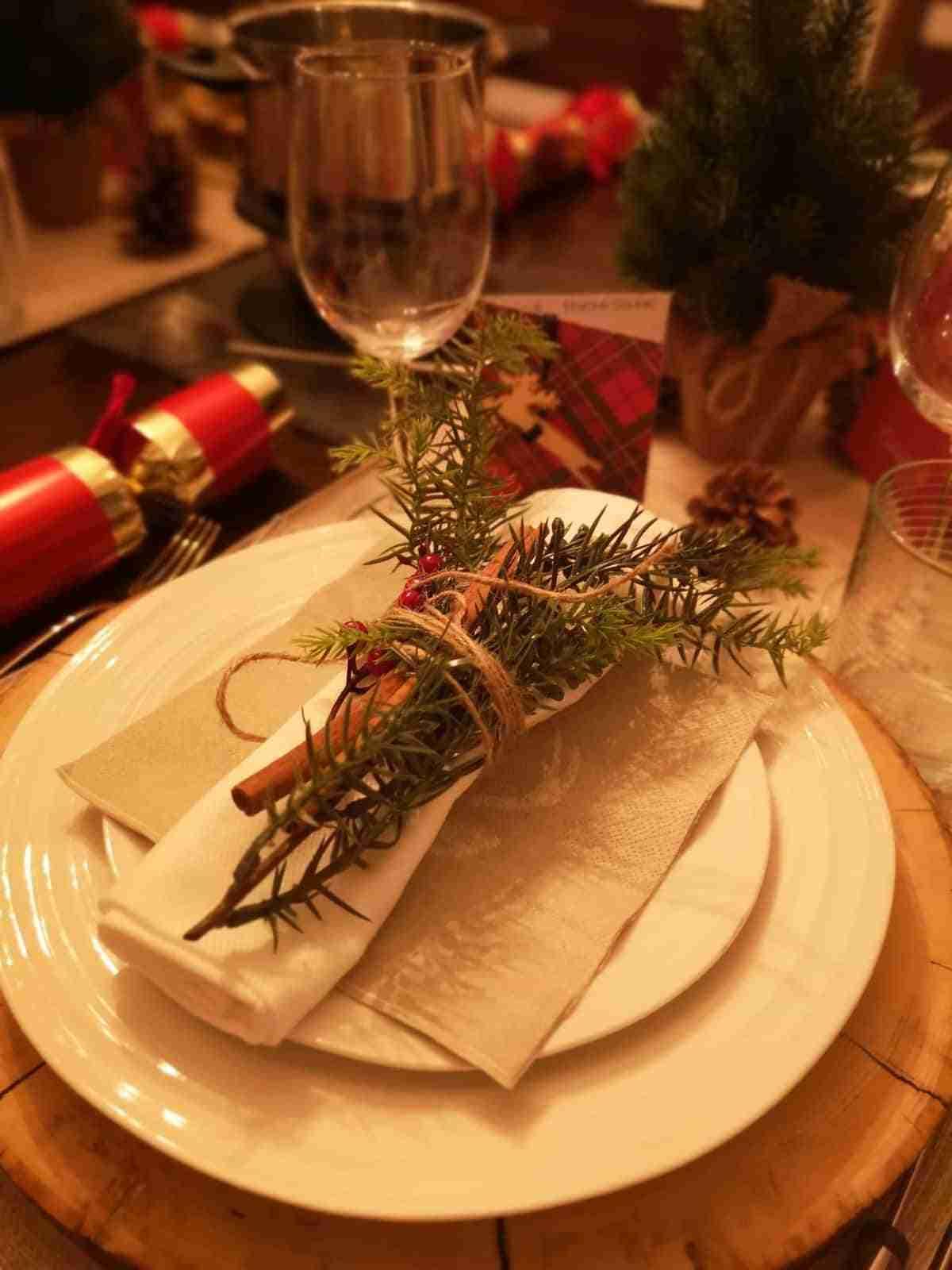 diy para decorar la mesa navidena