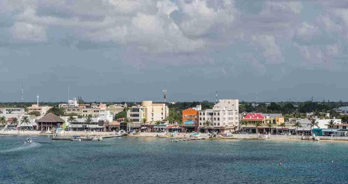 costa de la isla de cozumel