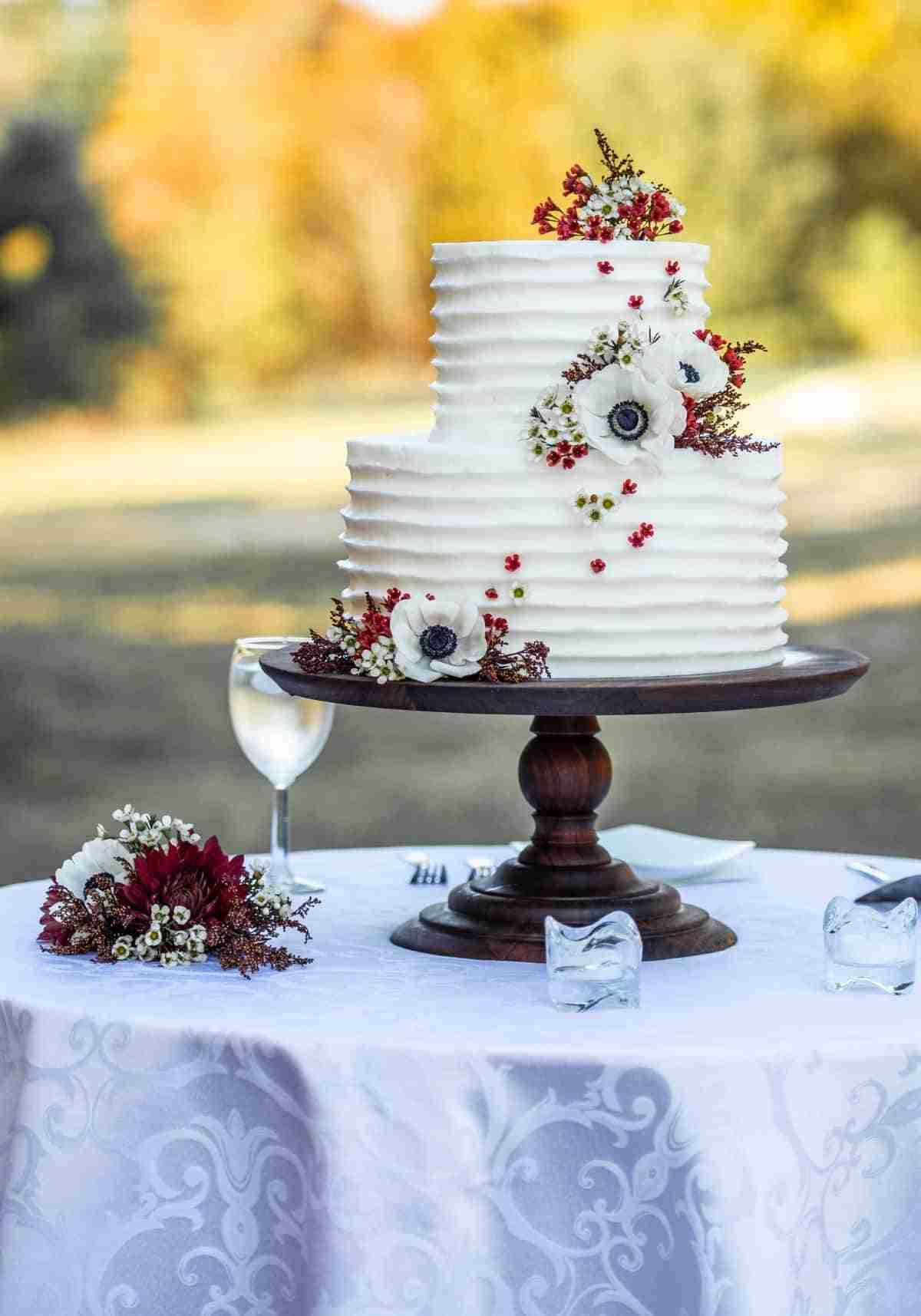 pasteles para bodas con flores