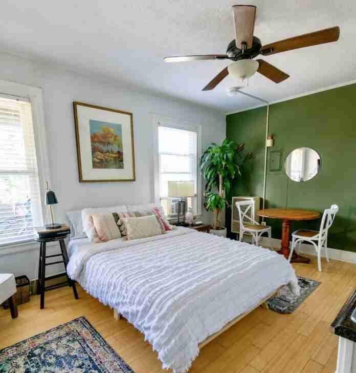 pared con tonalidades verde
