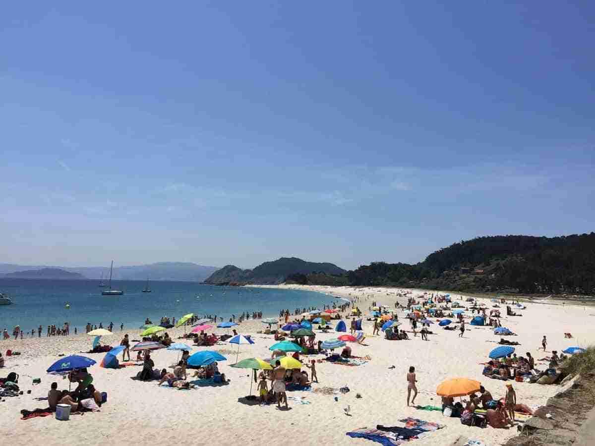 playas de las islas cies verano