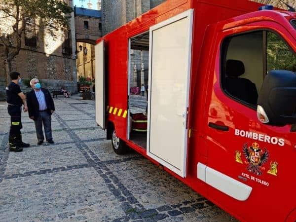 Toledo incorpora a Bomberos un primer furgón eléctrico y avanza una nueva bomba nodriza y un vehículo especial para el Casco