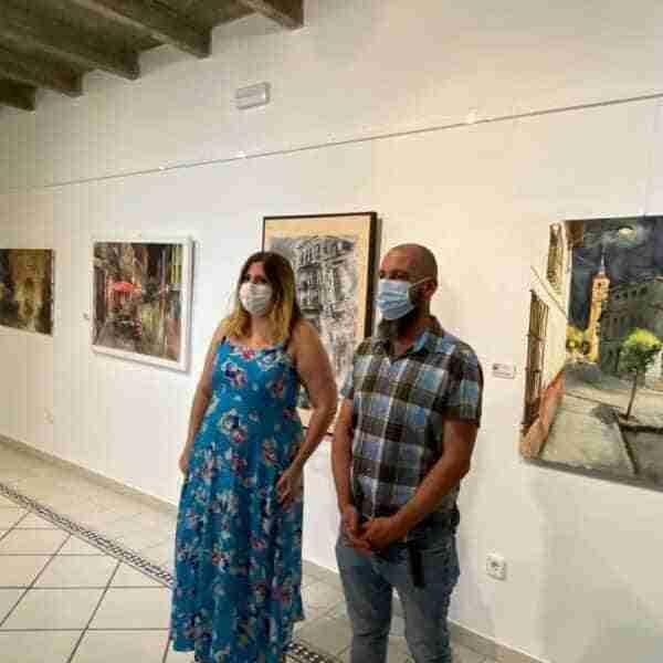 Ya se puede contemplar la exposición del XXI Certamen de Pintura Rápida Nocturna Ángel Lizcano
