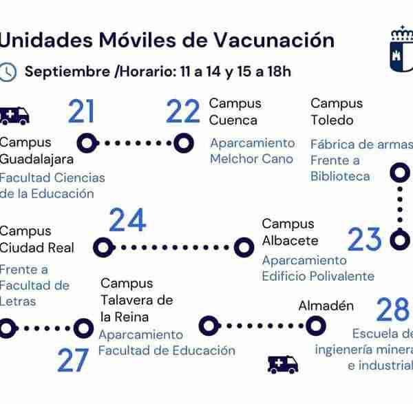 Almadén: Unidades Móviles de Vacunación