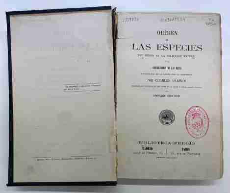 La primera edición en español del 'Origen de las Especies' de Darwin vuelve restaurado a la Biblioteca Pública del Estado de Ciudad Real