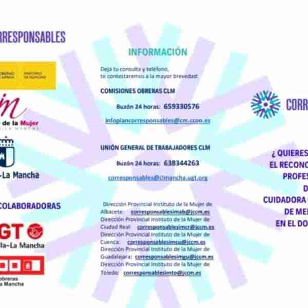 Convocatoria para acceso a las bolsas de cuidado profesional en el domicilio del Plan de Corresponsables en Puertollano
