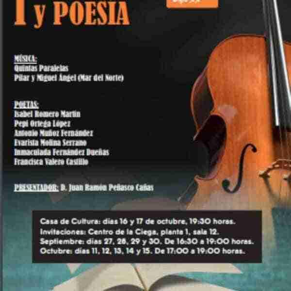 I jornadas de música y poesía en Manzanares el 16 y 17 de octubre a las 19:30 horas