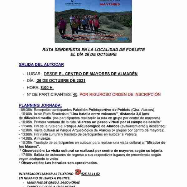 Almadén: Centro de Mayores de Almadén – Rutas senderistas