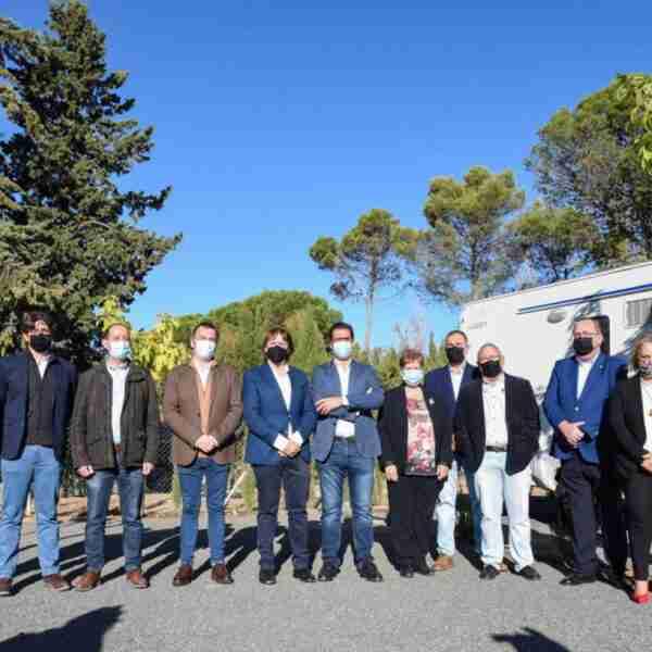 Inaugurada esta mañana el área de servicio de autocaravanas de Almadén