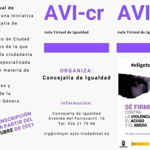 Participa en el Aula Virtual de Igualdad AVI-cr del ayuntamiento de Ciudad Real