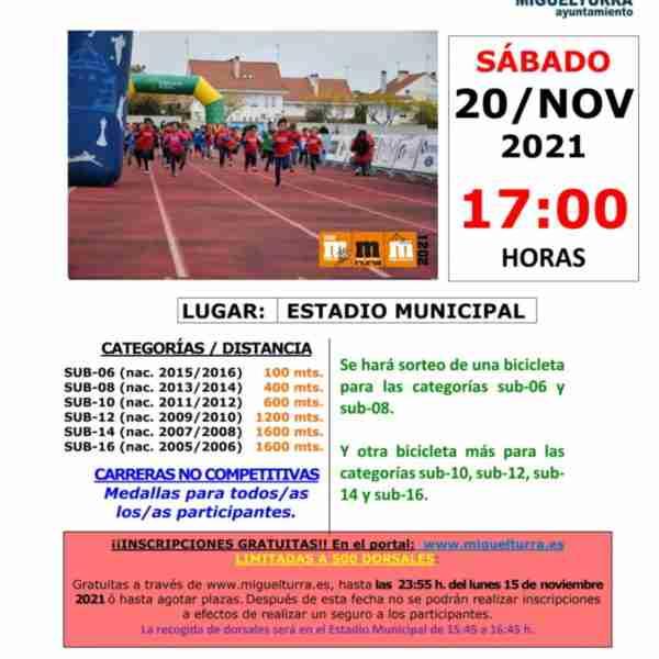"""Ya pueden inscribirse para participar en la """"Carrera Mini"""" de Miguelturra que se celebrará el 20 de noviembre"""