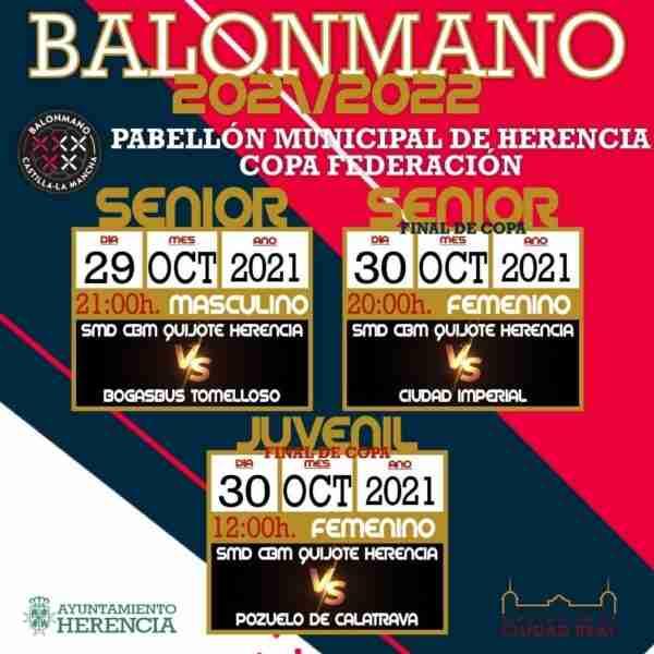 Partidos de balonmano de la Copa Federación en Herencia (Ciudad Real)