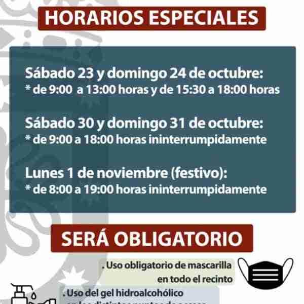 Festividad de Todos los Santos con medidas especiales en el cementerio de Miguelturra