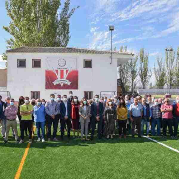 Reabre el campo de fútbol de Villarta de San Juan recién modernizado con una inversión de 150.000 euros