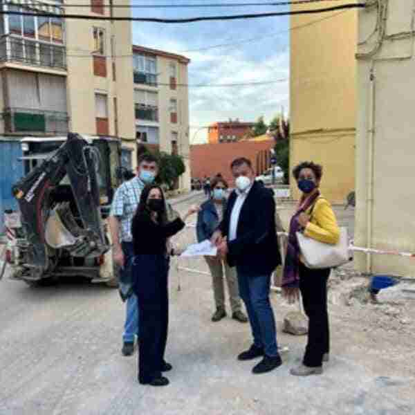 Obras que se realizan en el barrio de La Paz en Cuenca concluirán el próximo noviembre